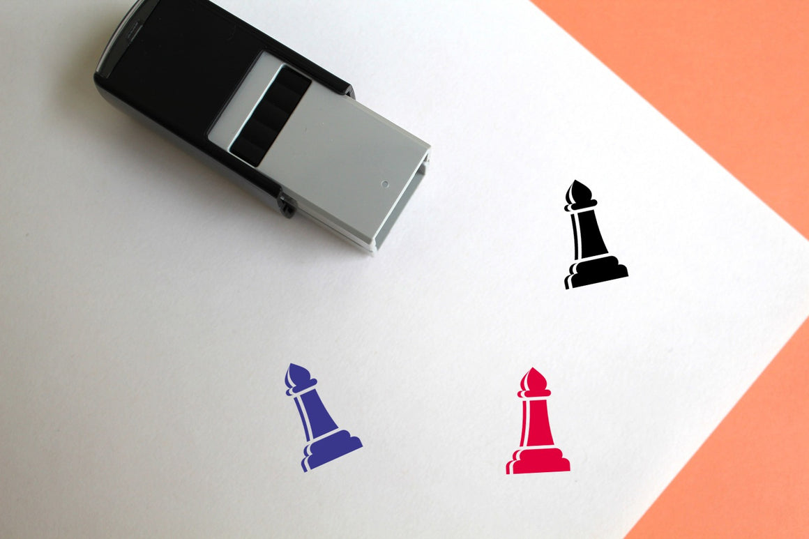 Chess Self-Inking Rubber Stamp
