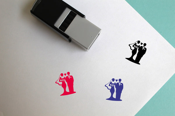 Wedding Self-Inking Rubber Stamp