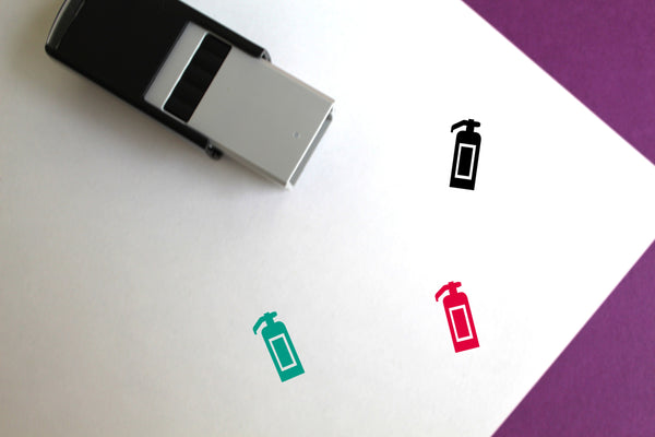Fire Extinguisher Self-Inking Rubber Stamp