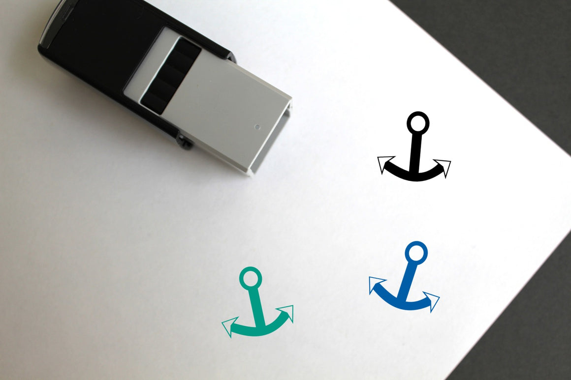 Anchor Self-Inking Rubber Stamp
