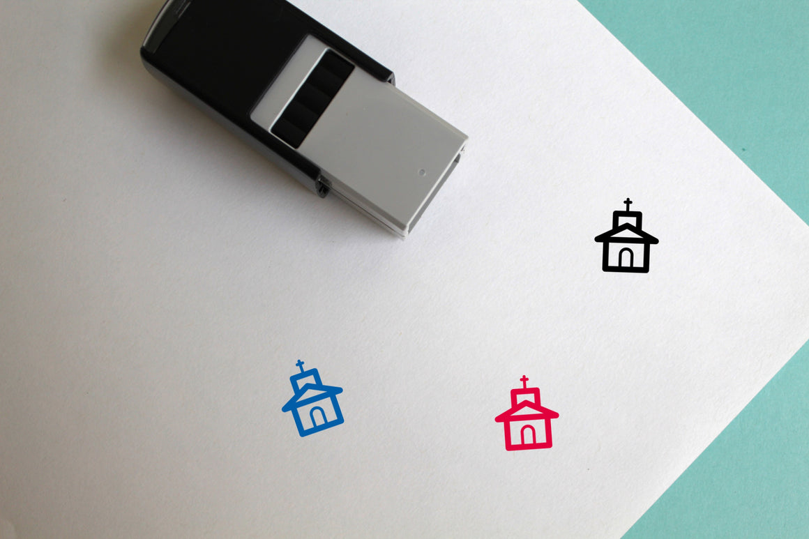 Church Self-Inking Rubber Stamp