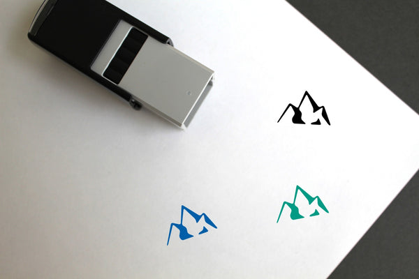 Mountains Self-Inking Rubber Stamp