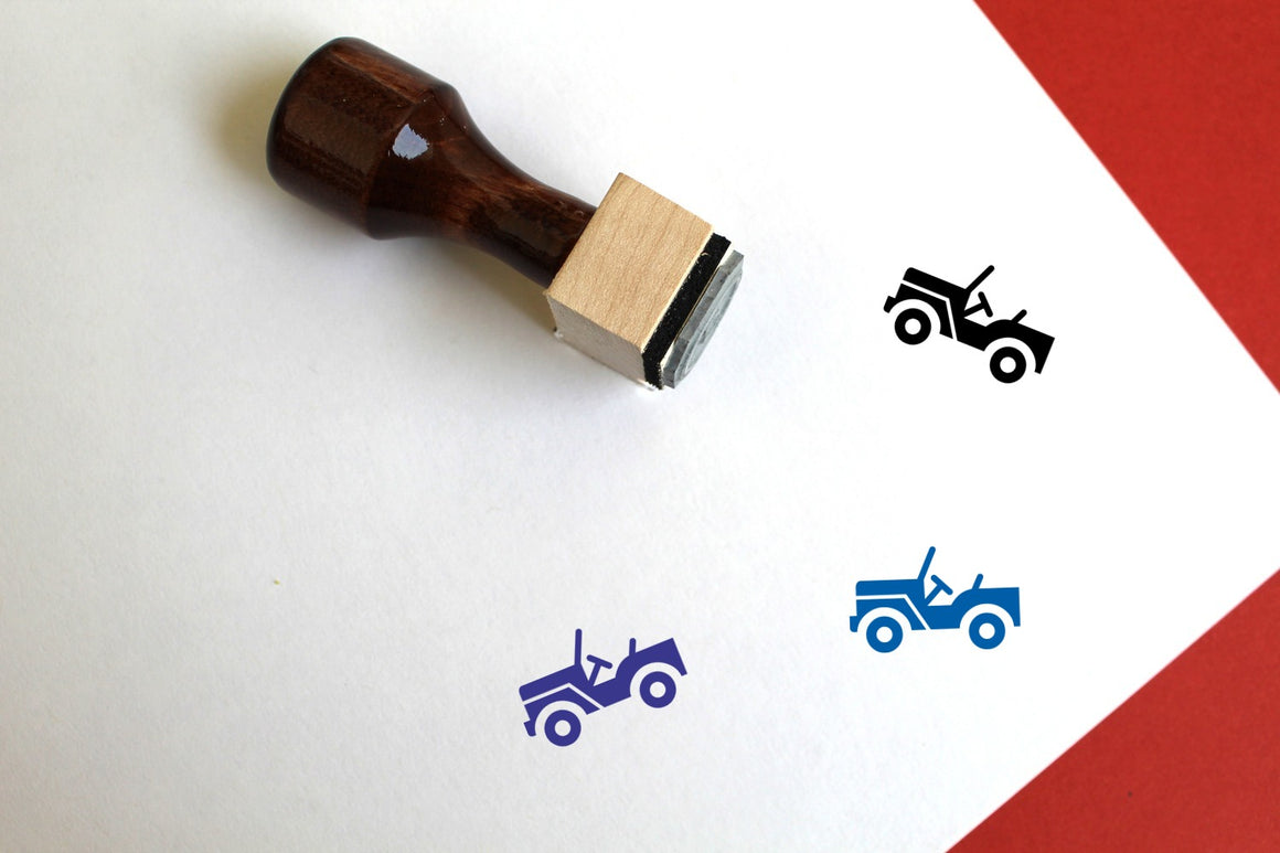 Jeep Wooden Rubber Stamp