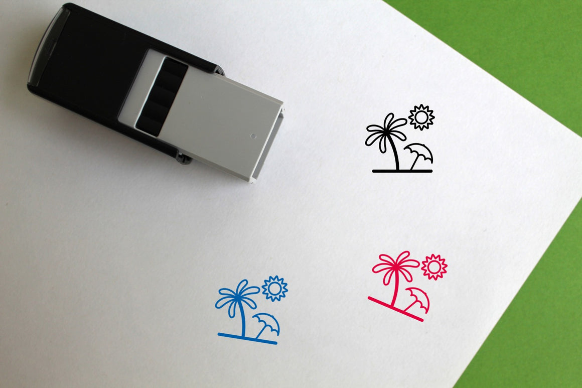 Beach Self-Inking Rubber Stamp