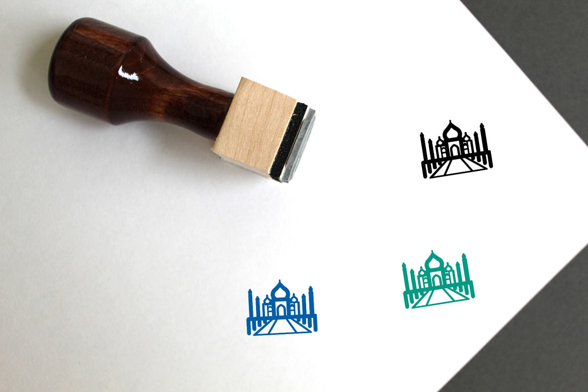 Taj Mahal Wooden Rubber Stamp