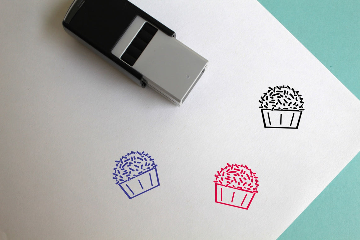 Cupcake Self-Inking Rubber Stamp