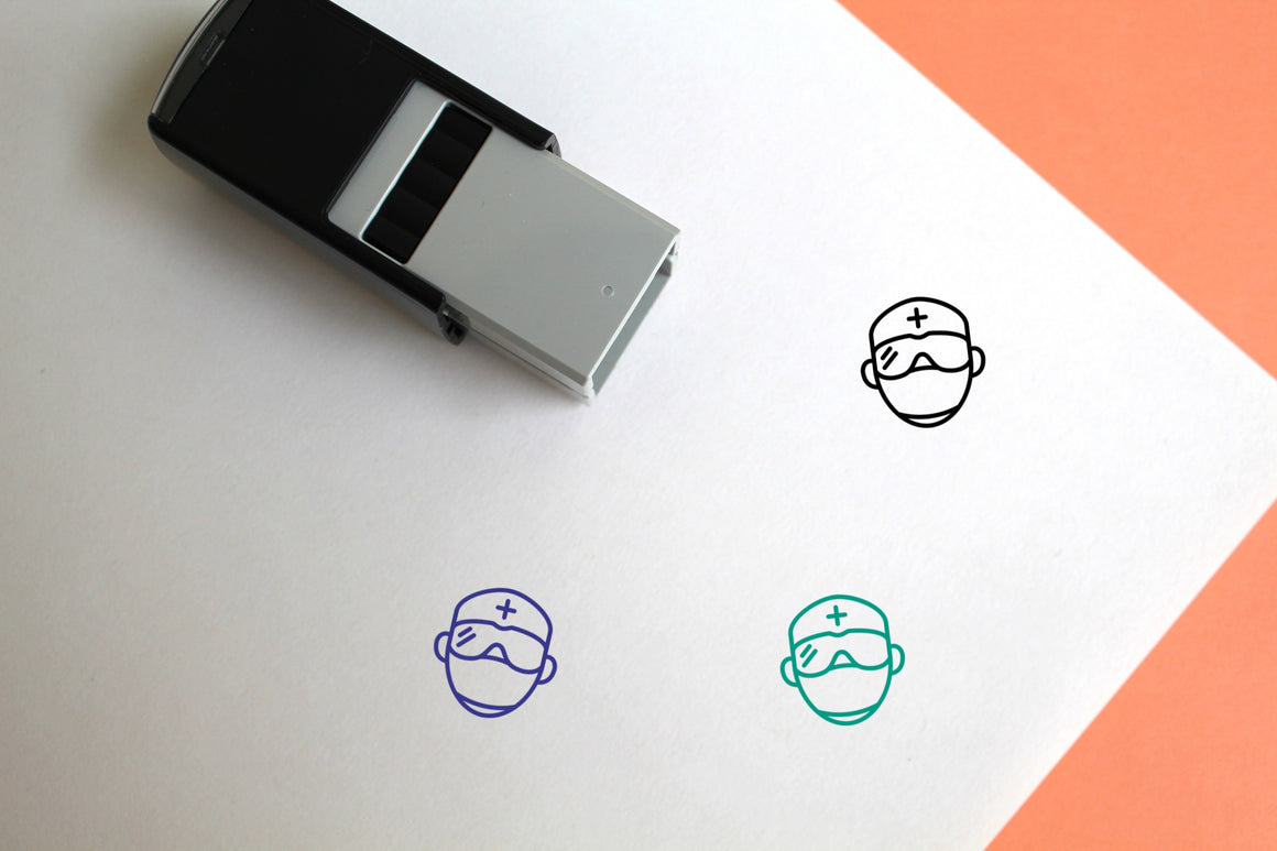 Surgeon Self-Inking Rubber Stamp