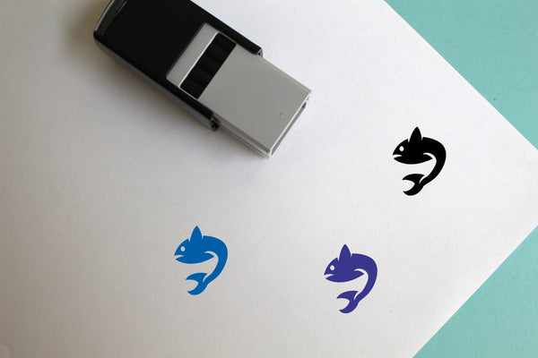 Fish Self-Inking Rubber Stamp