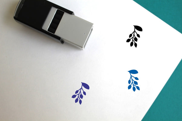 Blueberry Self-Inking Rubber Stamp
