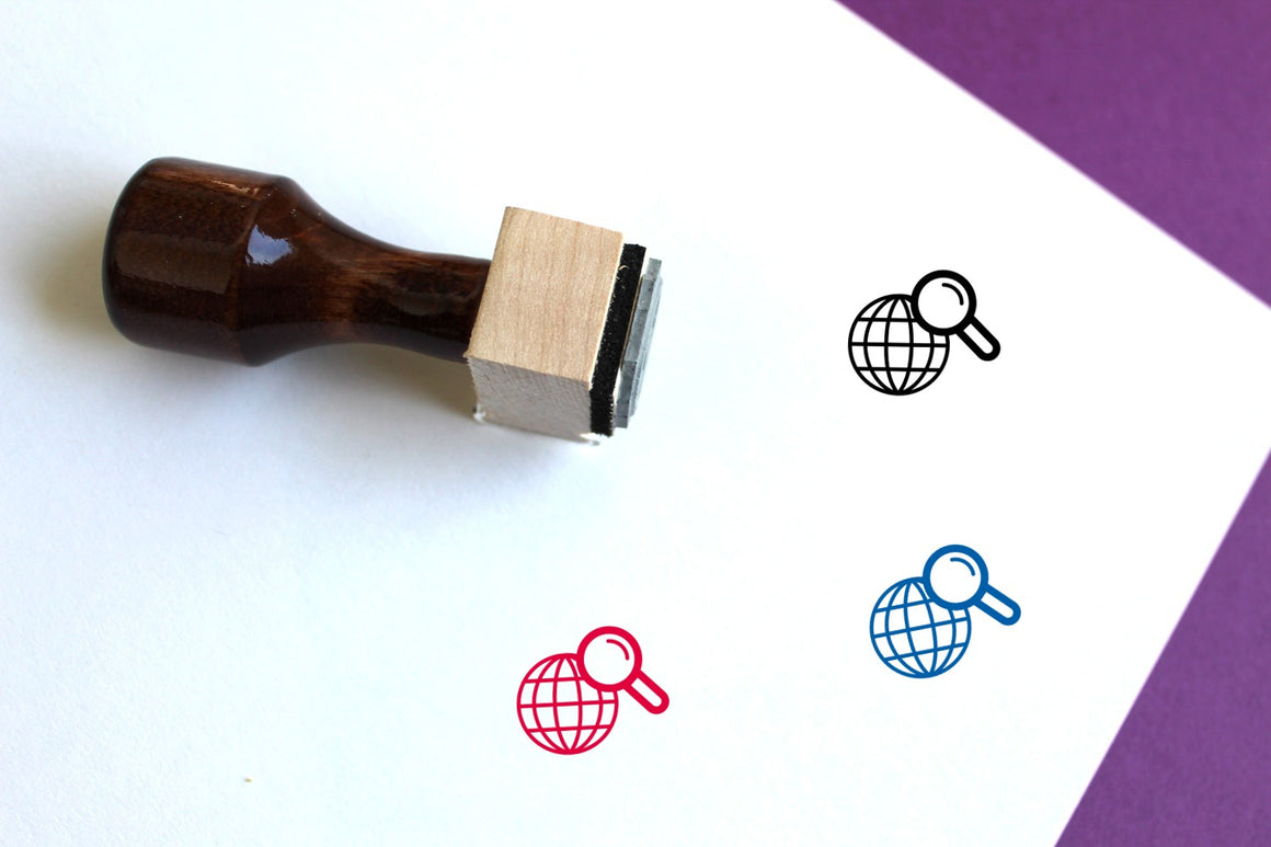 Search Wooden Rubber Stamp