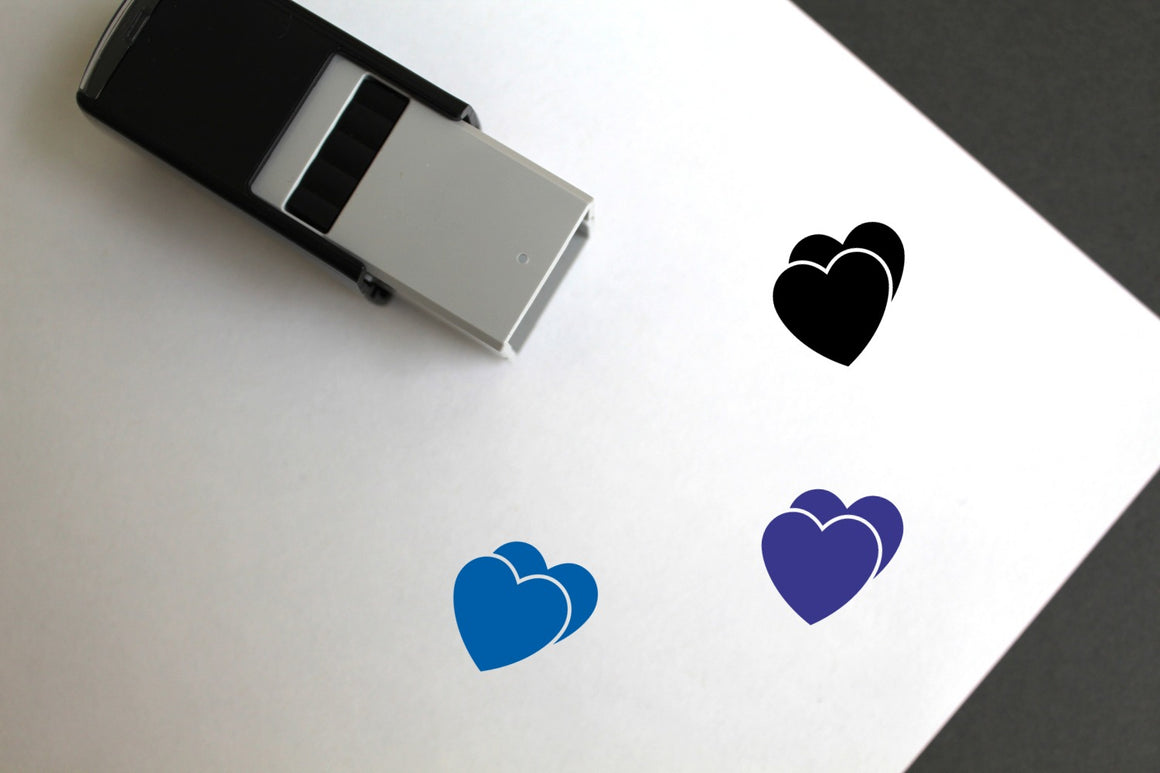 Love Hearts Self-Inking Rubber Stamp