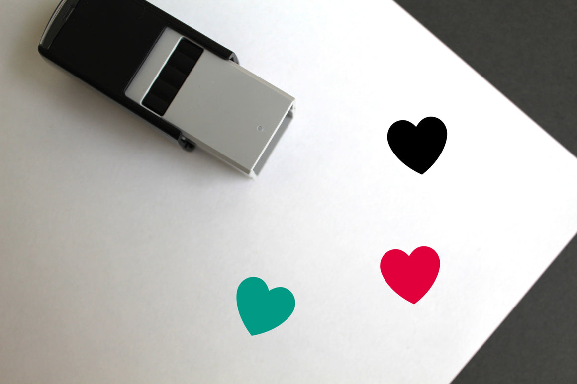 Love Heart Self-Inking Rubber Stamp