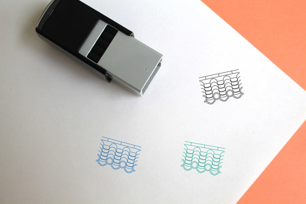 Roof Tile Self-Inking Rubber Stamp
