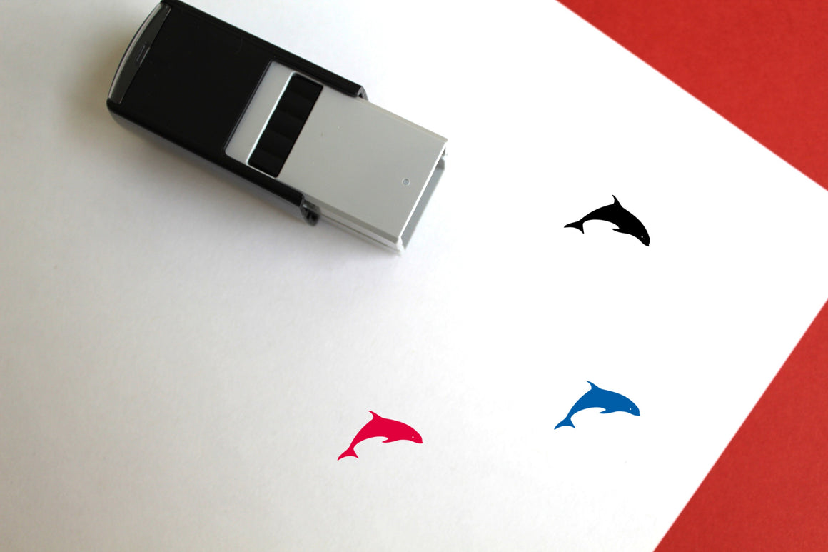 Dolphin Self-Inking Rubber Stamp