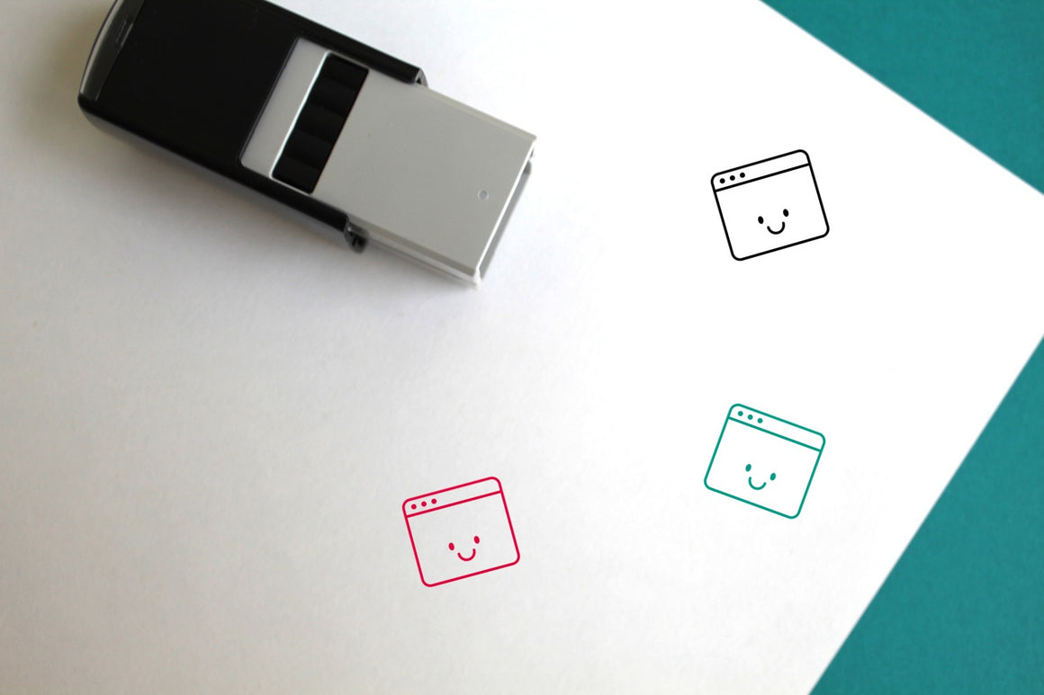 Happy Self-Inking Rubber Stamp