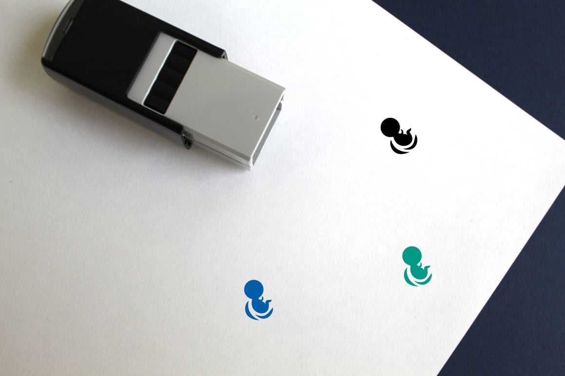 Embryo Self-Inking Rubber Stamp