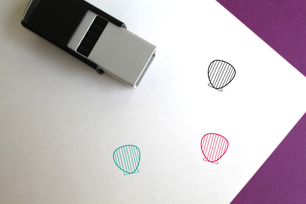 Seashell Self-Inking Rubber Stamp