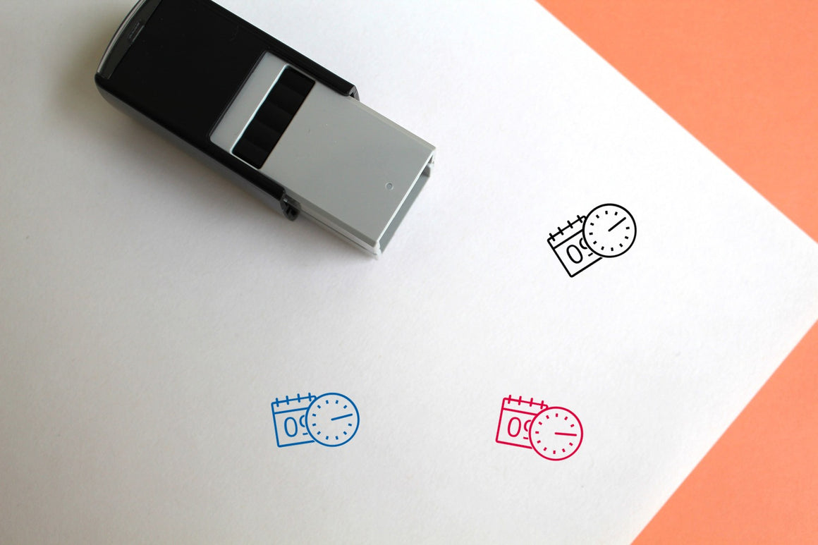 Time Self-Inking Rubber Stamp