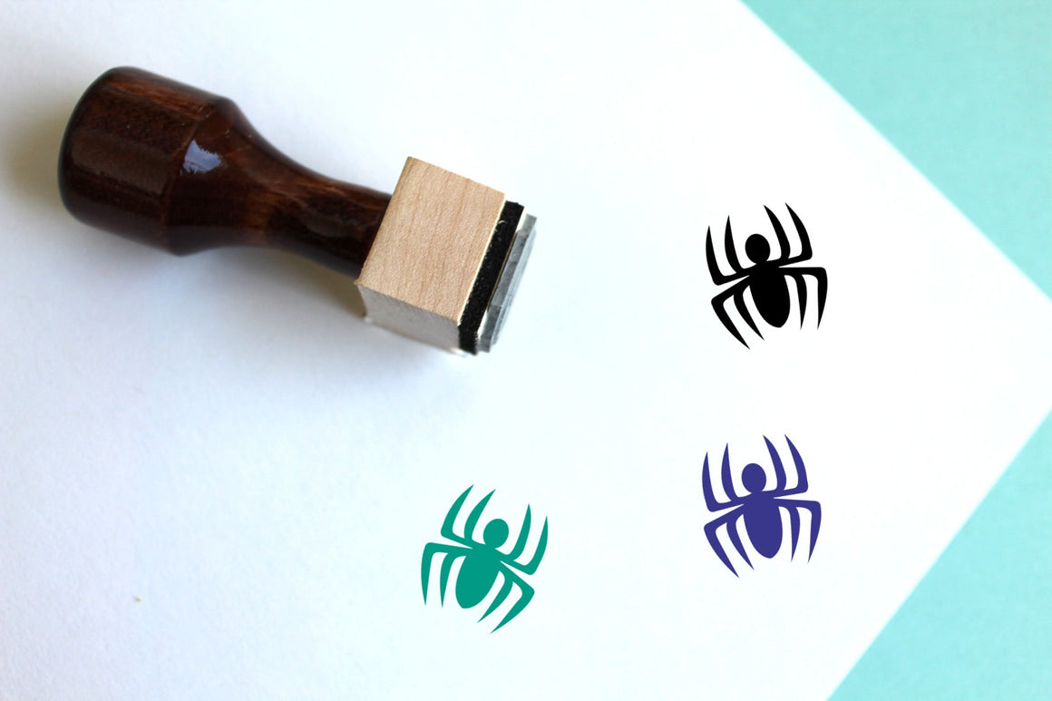 Spiderman Wooden Rubber Stamp