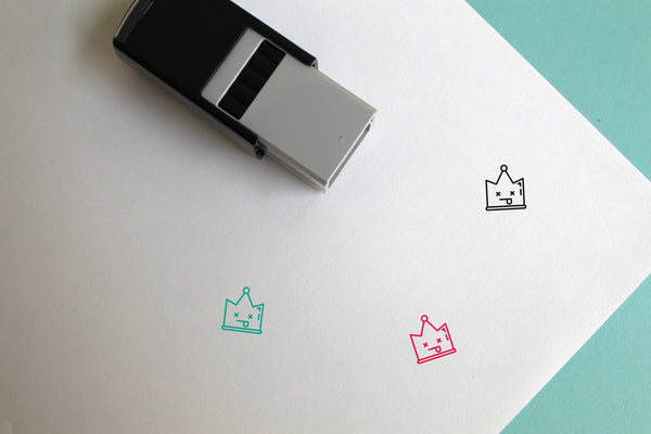 Crown Self-Inking Rubber Stamp
