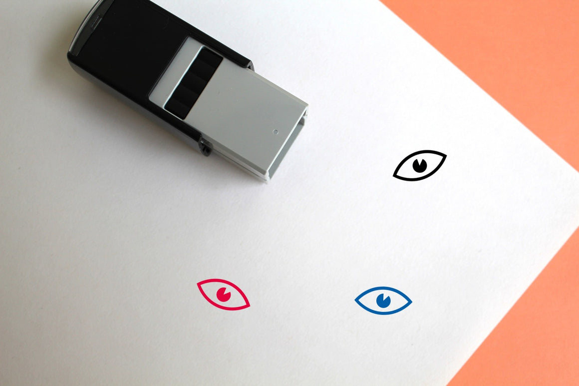 Eye Self-Inking Rubber Stamp