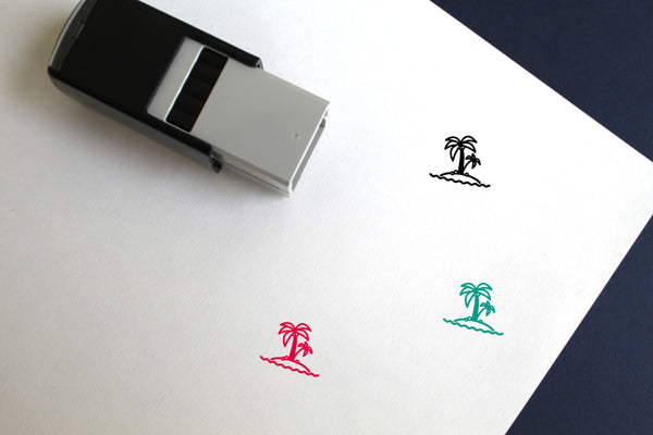 Island Self-Inking Rubber Stamp