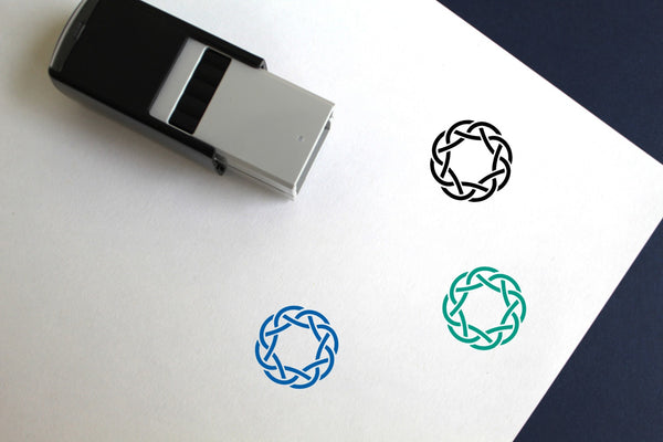 Wreath Self-Inking Rubber Stamp