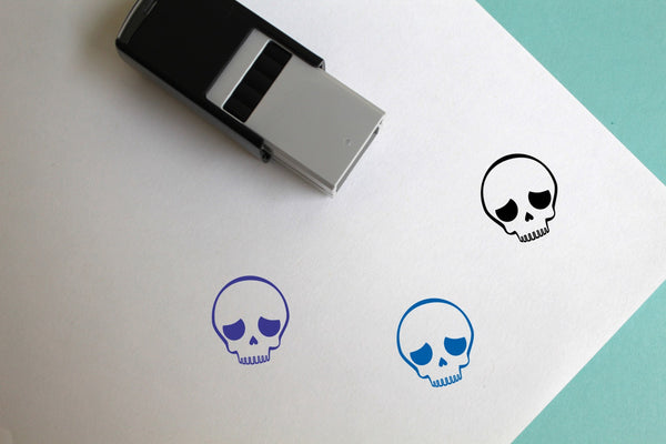 Skull Self-Inking Rubber Stamp