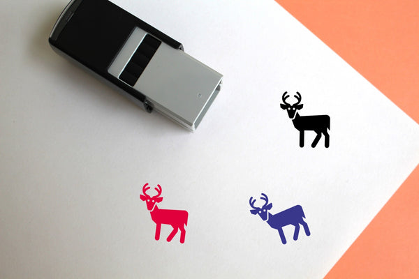 Deer Self-Inking Rubber Stamp