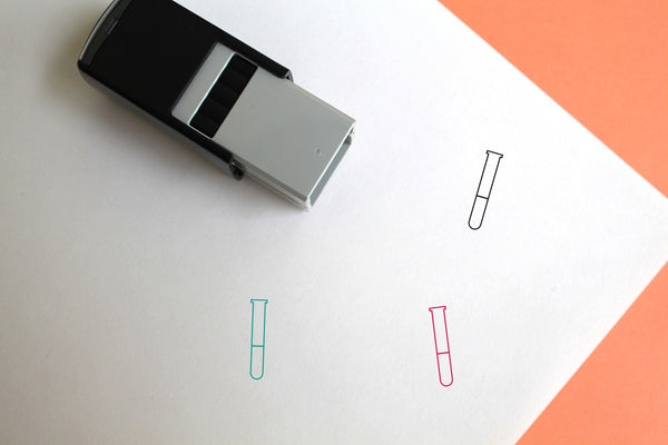 Test Tube Self-Inking Rubber Stamp
