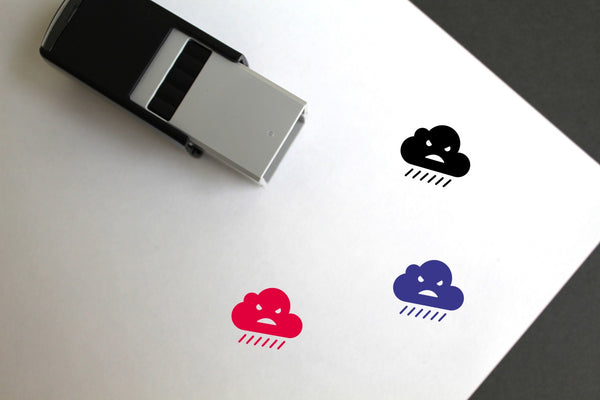 Rain Self-Inking Rubber Stamp