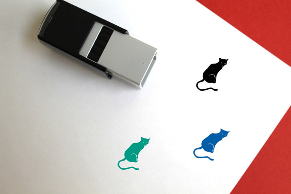Cat Self-Inking Rubber Stamp