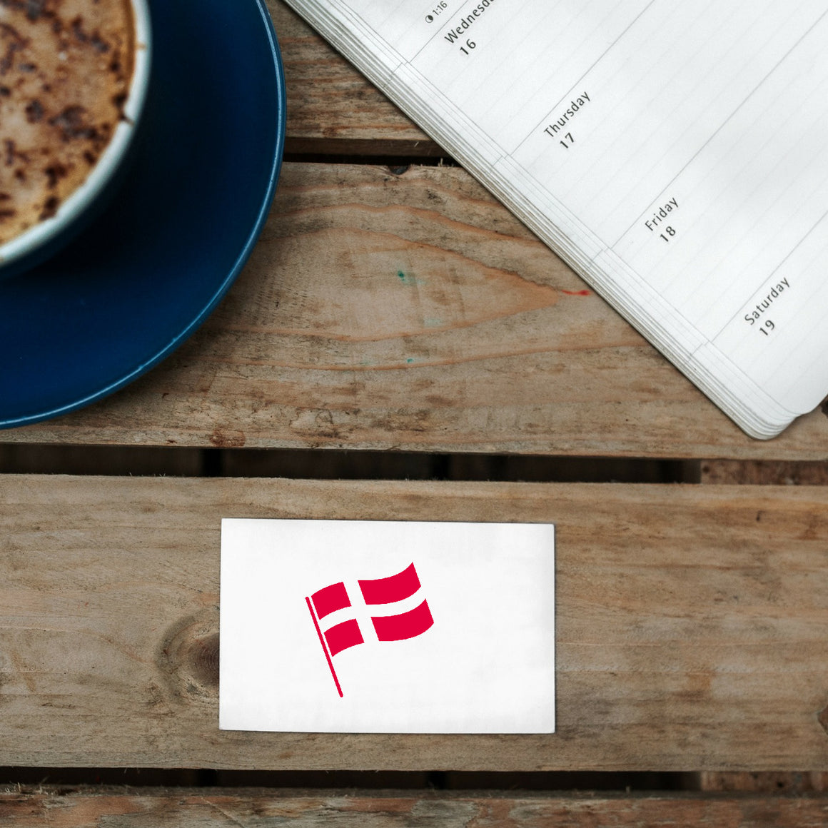 Danish Flag Rubber Stamp