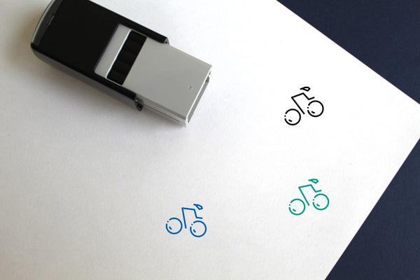 Track Cycling Self-Inking Rubber Stamp