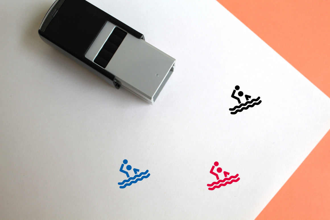 Water Polo Self-Inking Rubber Stamp