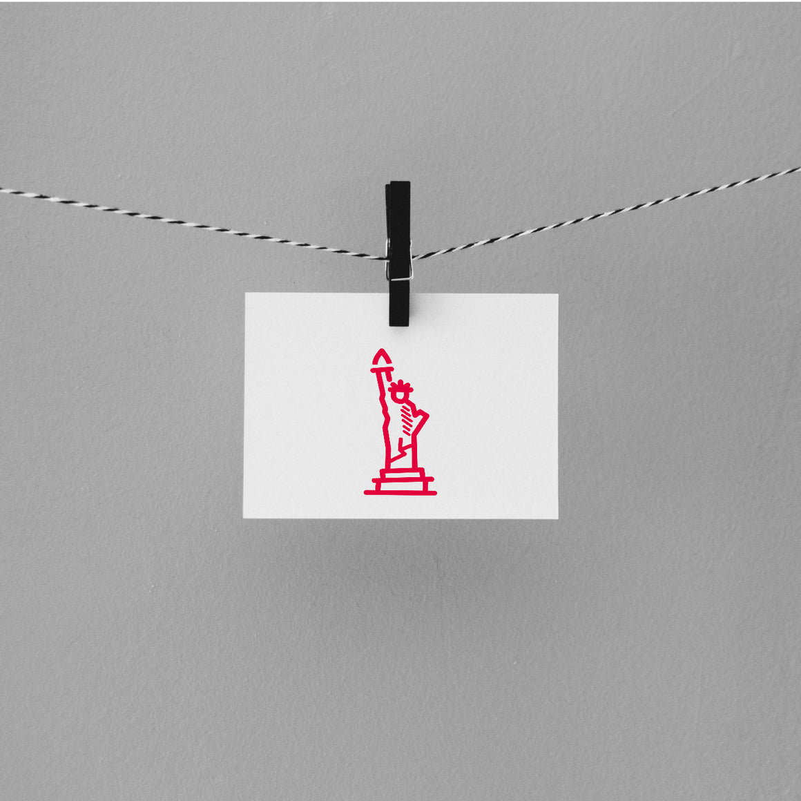 Statue Of Liberty Rubber Stamp