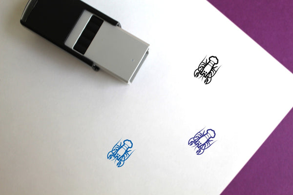 Lobster Self-Inking Rubber Stamp
