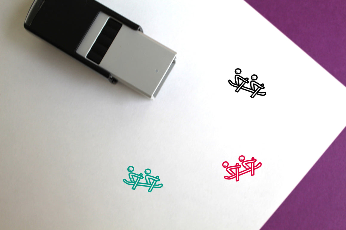 Rowing Self-Inking Rubber Stamp