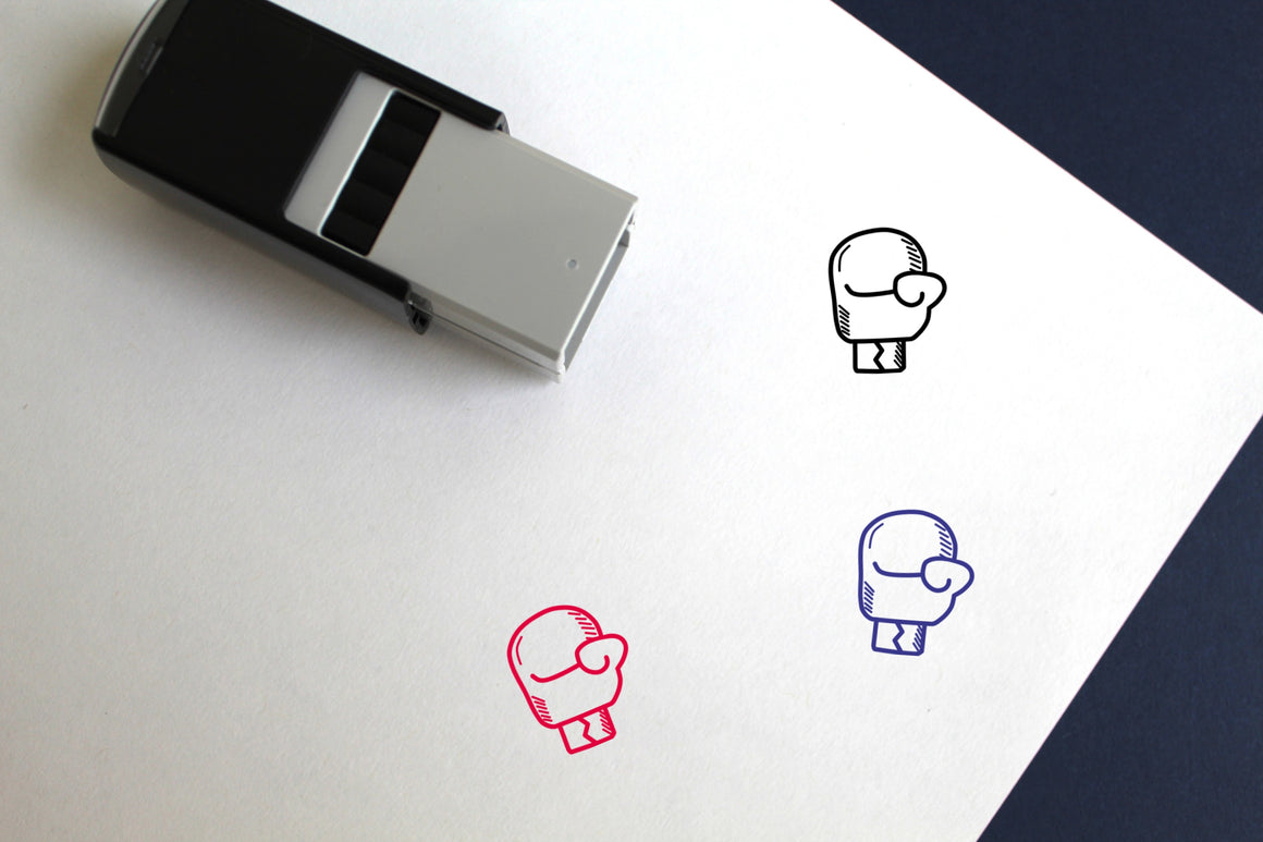 Boxing Glove Self-Inking Rubber Stamp