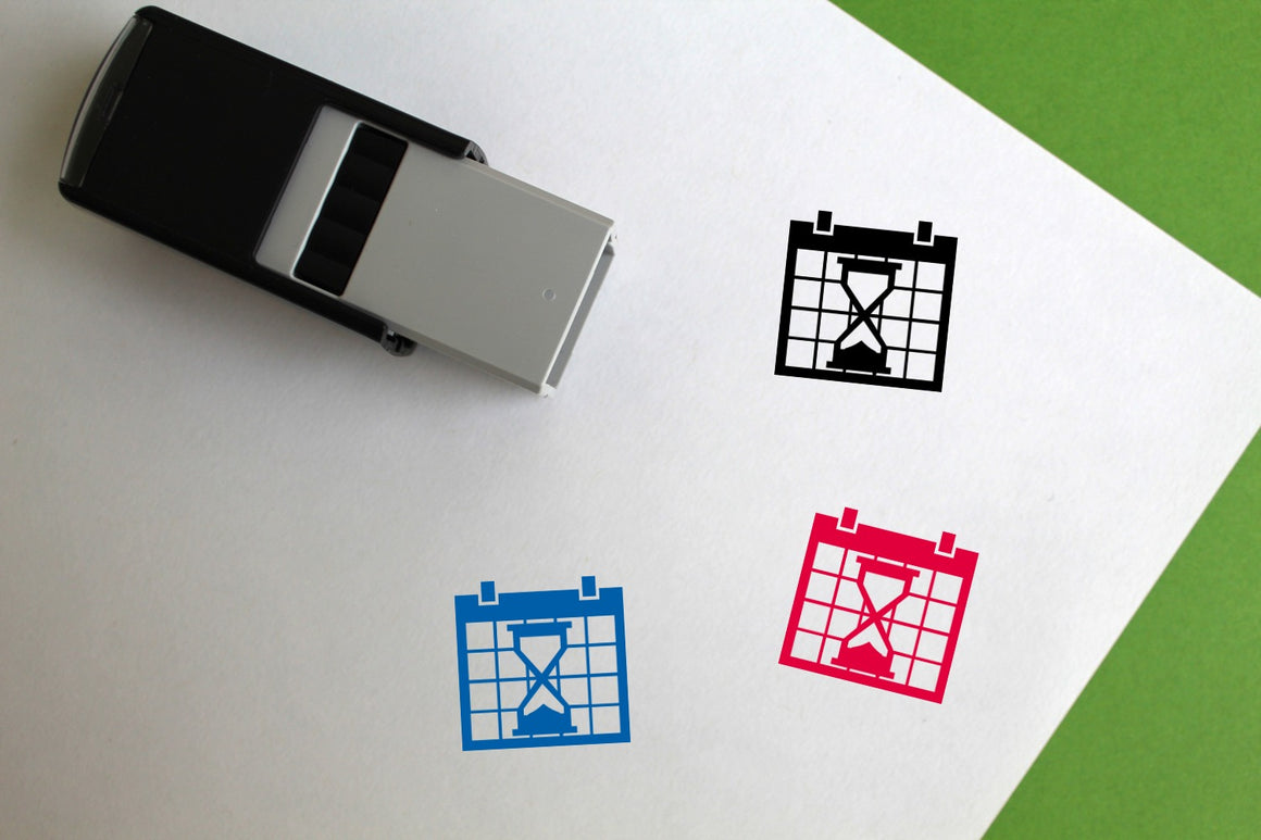 Wait Date Self-Inking Rubber Stamp