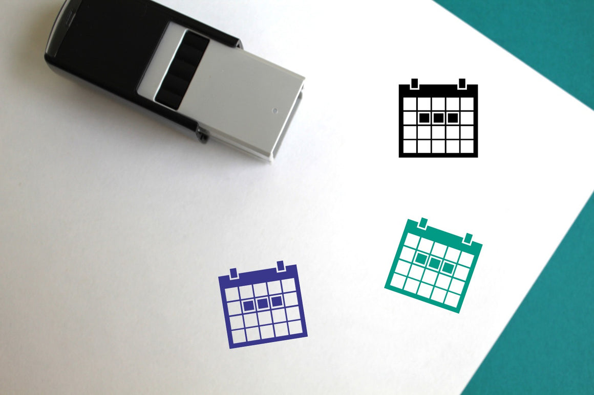 Work Calendar Self-Inking Rubber Stamp