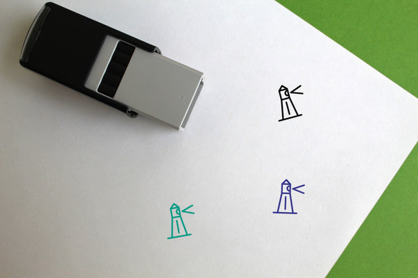 Lighthouse Self-Inking Rubber Stamp