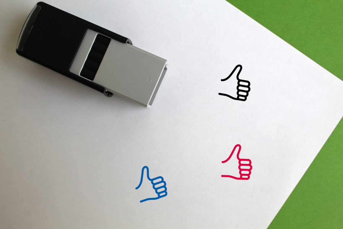 Thumbs Up Self-Inking Rubber Stamp
