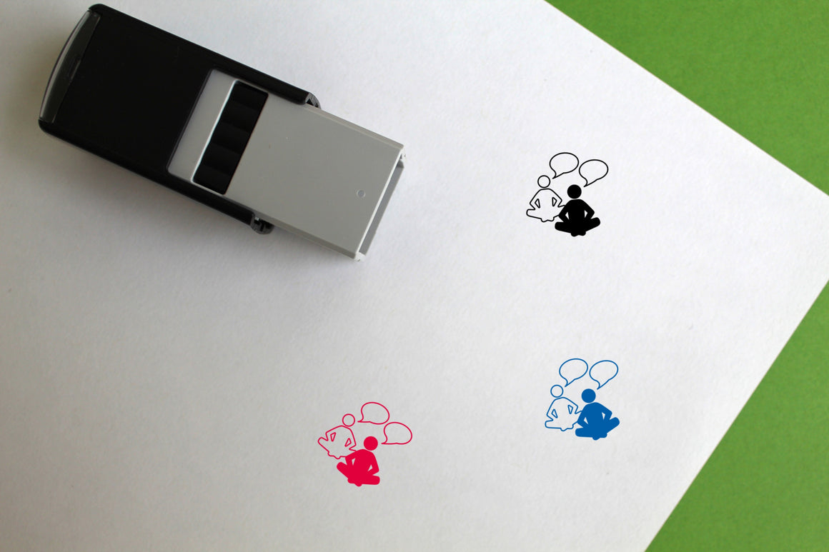 Chat Self-Inking Rubber Stamp