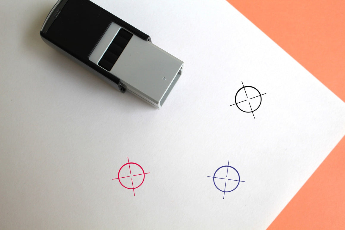 Crosshair Self-Inking Rubber Stamp