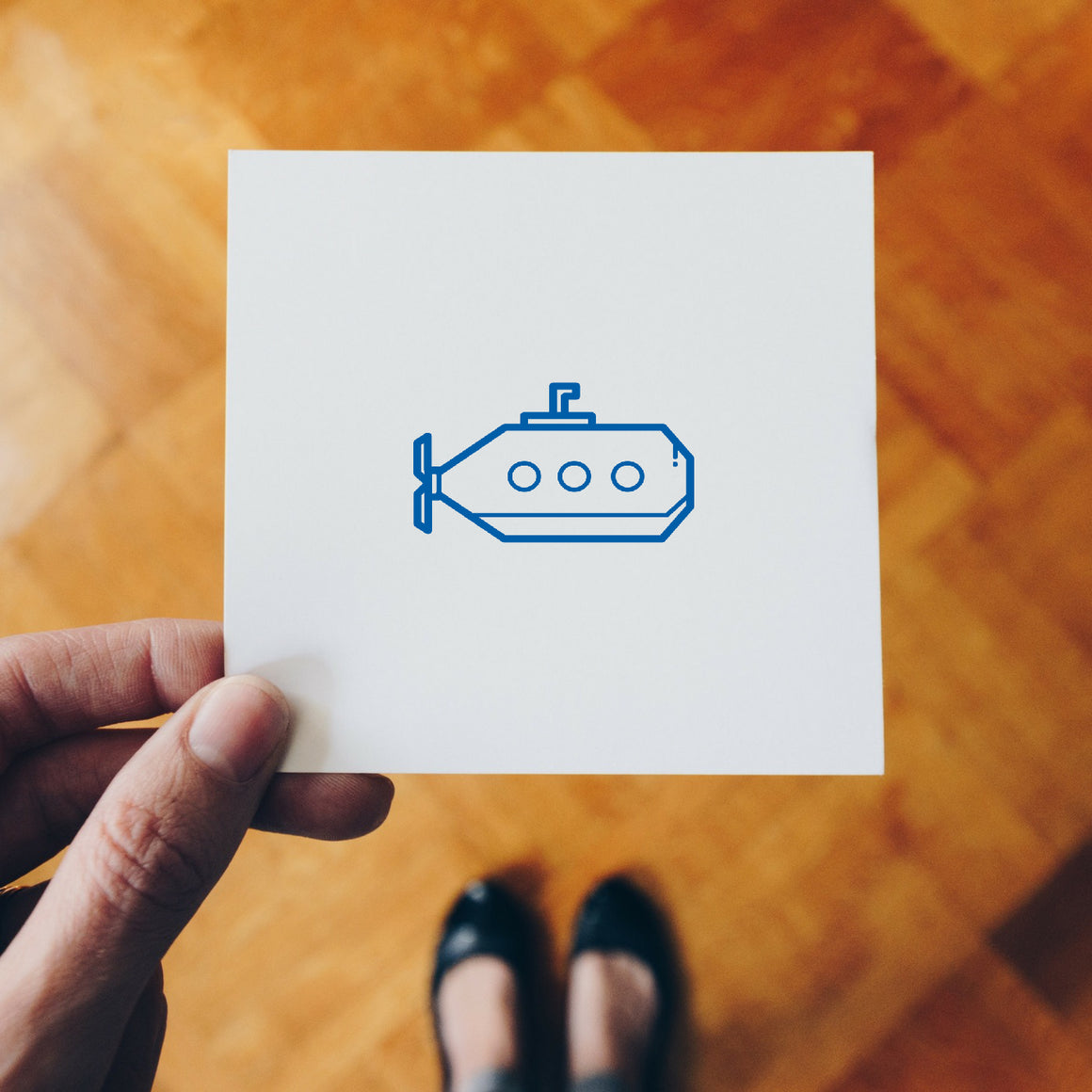 Submarine Rubber Stamp