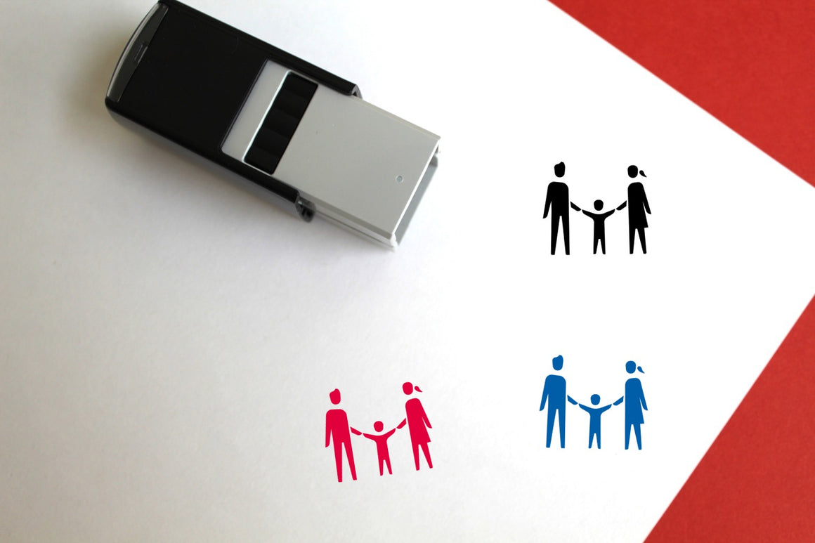 Family Self-Inking Rubber Stamp