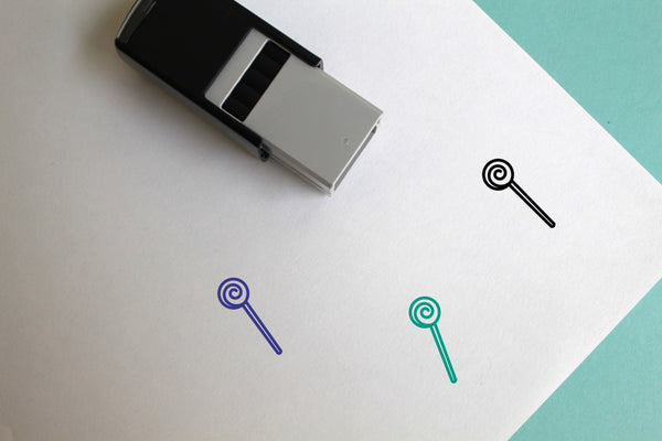 Lollipop Self-Inking Rubber Stamp