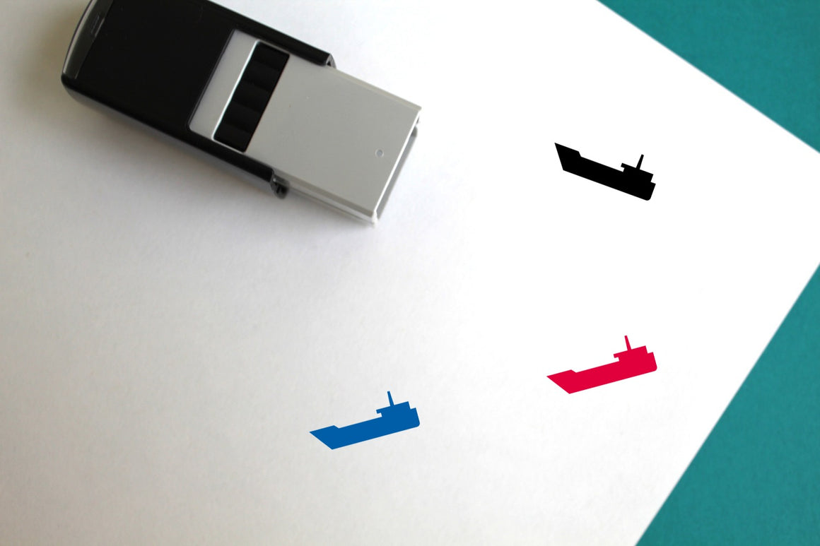Ship Self-Inking Rubber Stamp