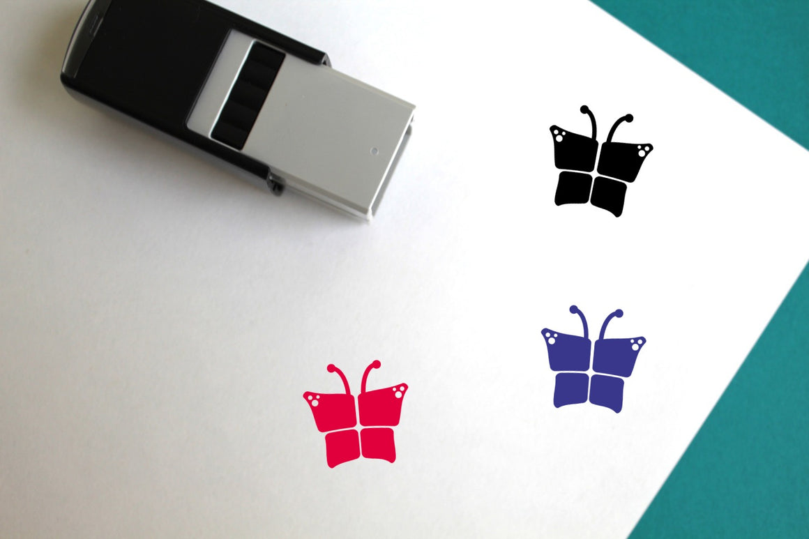 Butterfly Self-Inking Rubber Stamp